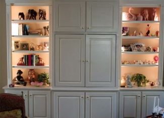 Xenon Bookcase Lighting After