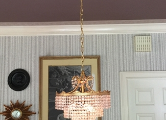 Chandelier Rose Gold1