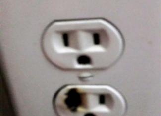 Burned Outlet
