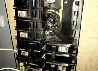 Burned Panel Board