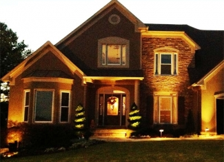 Landscape Lighting Front of House and Path Lighting