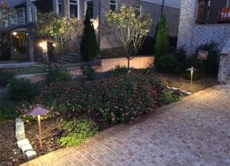 Landscape Path and Up Lighting