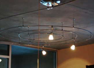 Mono Rail Track Lighting Sprial