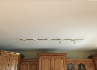 Kitchen Track Lighting Before