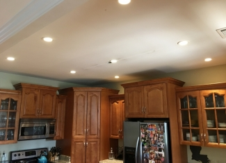 Kitchen Can Lighting After