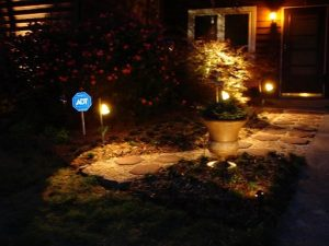 landscape lighting, path lights