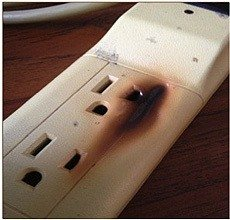 overheated-power-strip